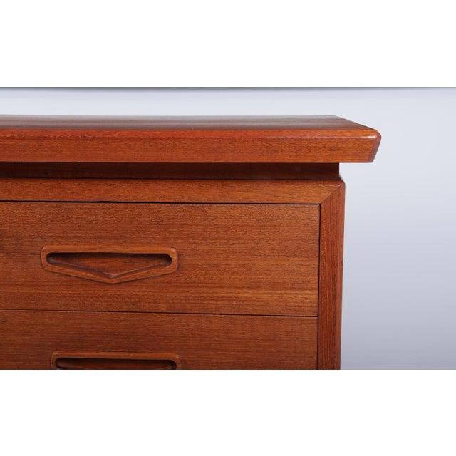 1960s Danish Mid Century Modern Teak Desk For Sale - Image 5 of 13