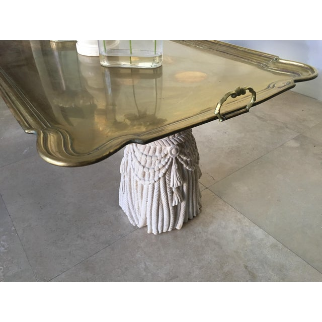Distinguished patinated brass tap. It is beautifully large and could be interchangeable to any table a gorgeous and solid...