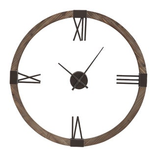 Fir Wood Wall Clock For Sale