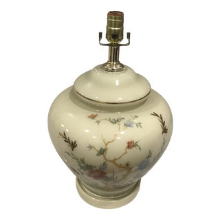 Mid-Century Chinoiserie Ginger Jar Table Lamp For Sale