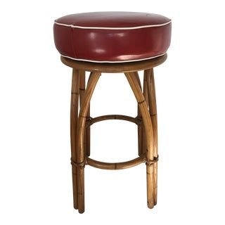 1950s Vintage Heywood Wakefield Bamboo Bar Stool For Sale
