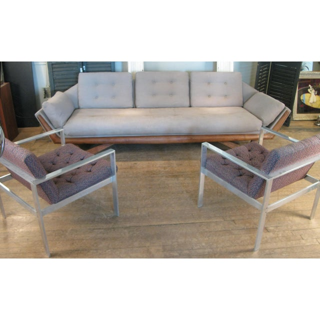 Wood Vintage 1950s Walnut Gondola Sofa by Adrian Pearsall for Craft Associates For Sale - Image 7 of 8