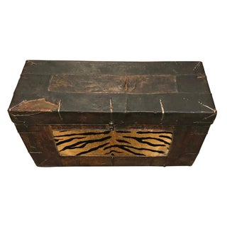 """19th Century Tibetan Leather """"Tiger"""" Trunk Preview"""