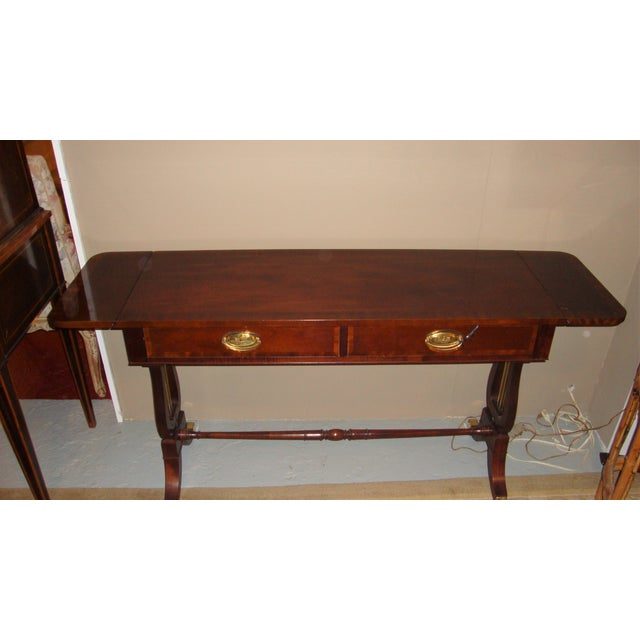 Baker Furniture Company Mahogany Sofa Table - Image 3 of 10