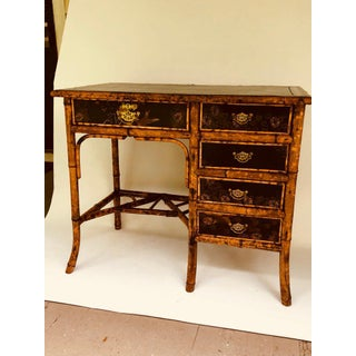 Victorian Bamboo & Lacquer Brass Mounted Desk Preview