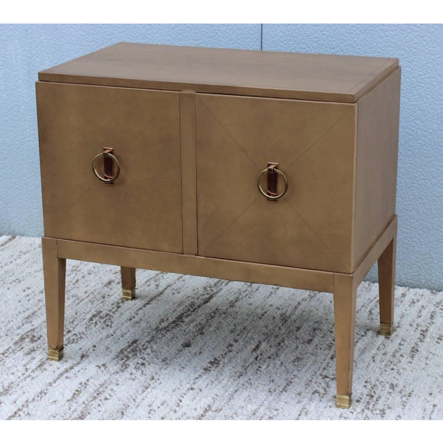 Mid 20th Century 1940s French Leather Cabinet For Sale - Image 5 of 11