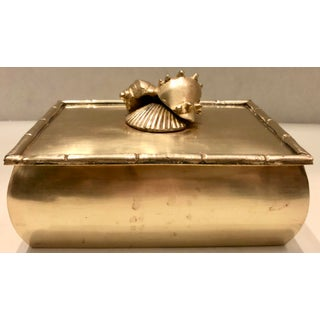 Brass Box With Shells Decor Preview