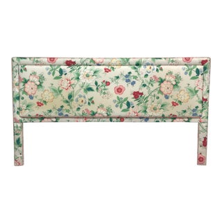 Floral Upholstered King Headboard