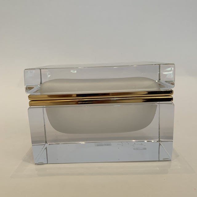 21st Century Murano White Crystal Jewel Box by Mandruzzato For Sale - Image 10 of 10
