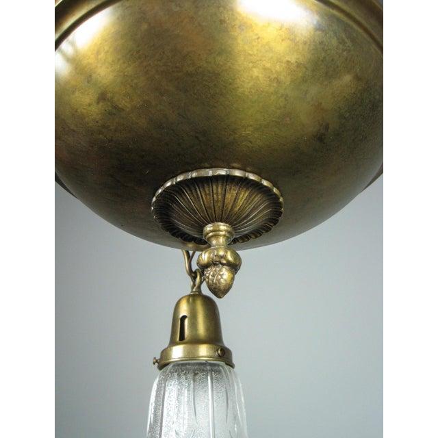 Original Arts & Crafts Pan Light Fixture (3-Light) - Image 7 of 8