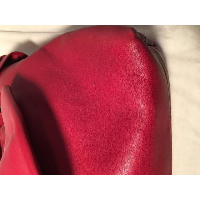 Leather Valentino Red Leather Bow Front Hobo Shoulder Bag For Sale - Image 7 of 8