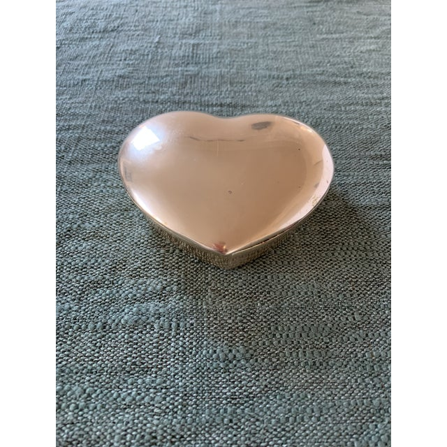Metal 1950s Heart Brass Trinket Box For Sale - Image 7 of 7