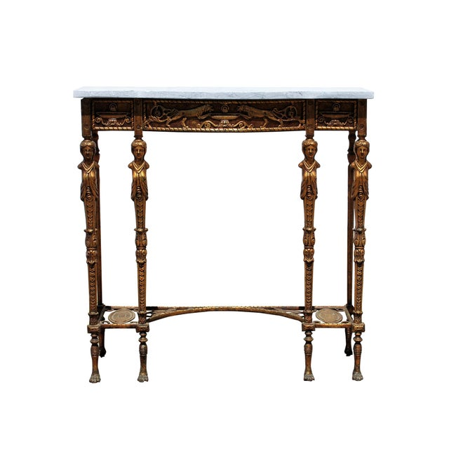 1920s Art Deco Marble Top Iron Table For Sale - Image 11 of 11