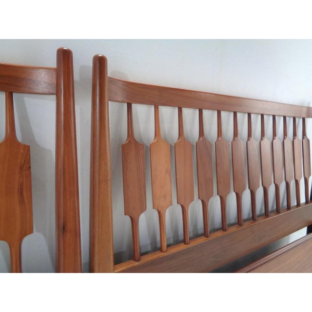 Walnut Kipp Stewart for Drexel Declaration Twin Beds ~ a Rare Pair For Sale - Image 7 of 13