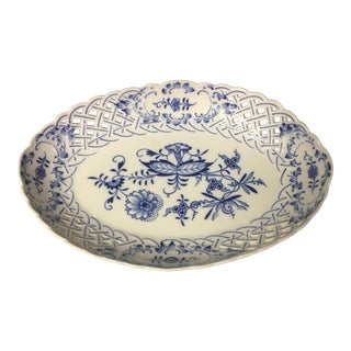 Meissen Oval Reticulated Bowl