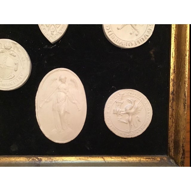 Mid 20th Century Italian Grand Tour Intaglios in Frame. 7 Intaglios For Sale - Image 5 of 11