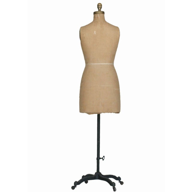 Dress Form Mannequin with Original Hardware - Image 2 of 4