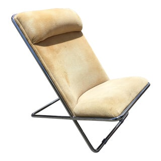 Ward Benett Scissor Pillow High Back Chair by Herman Miller
