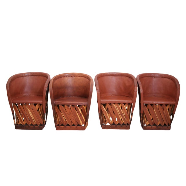 Equipales Mexican Chairs - Set of 4 - Image 2 of 5