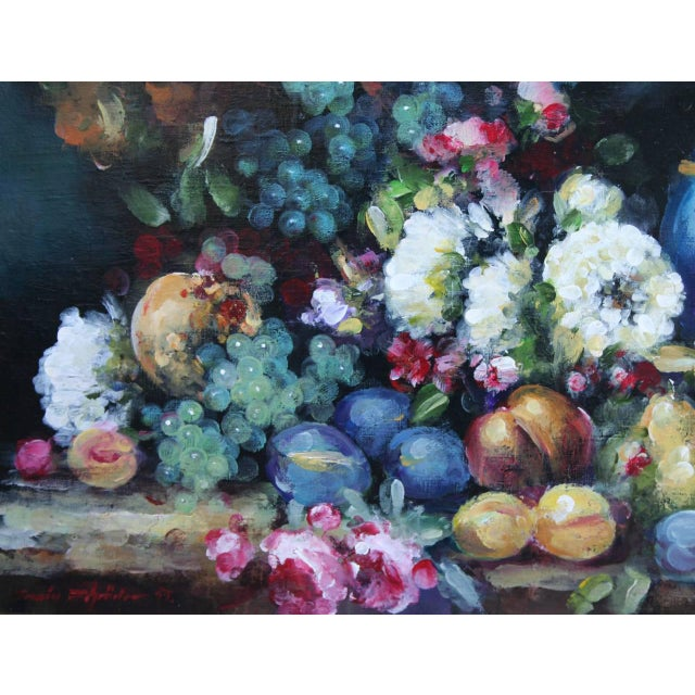 Abundant Still Life Painting For Sale - Image 4 of 5