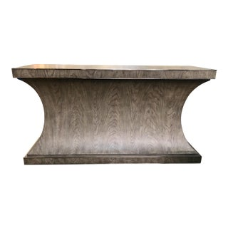 Contemporary Gray Finish Console Table For Sale