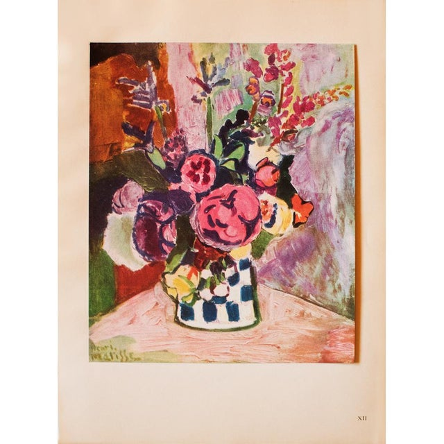 "Lithograph 1940s Henri Matisse, Original Period Parisian Lithograph ""Vase of Flowers"" For Sale - Image 7 of 7"