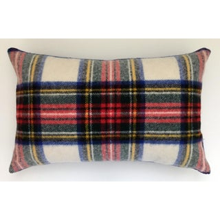Plaid Wool Blanket Pillow Preview