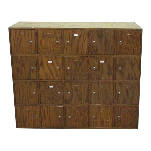 Antique Wooden Locker Unit For Sale
