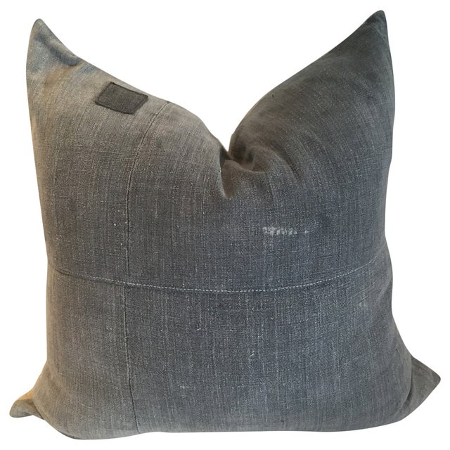 Vintage Batik Grey Pillow - Image 1 of 3