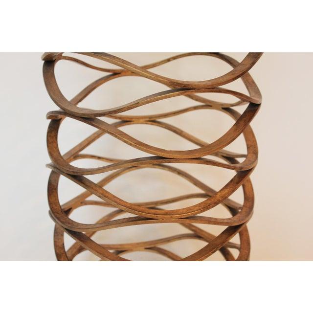 Modern Gold Leaf Bracelet Tables - A Pair For Sale - Image 4 of 7