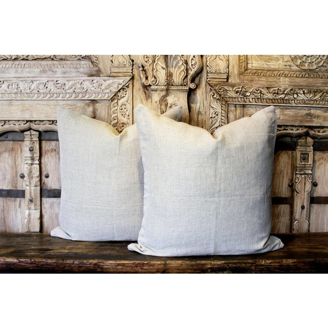 Asian Pair of Rajah Suzani Square Pillow For Sale - Image 3 of 6