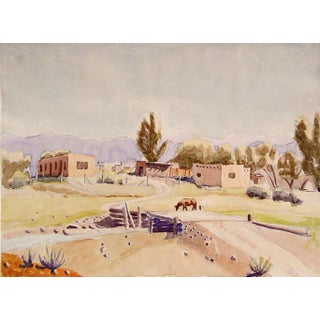 """Prado, Cerca De Taos"" Watercolor by Geneva Hart For Sale"