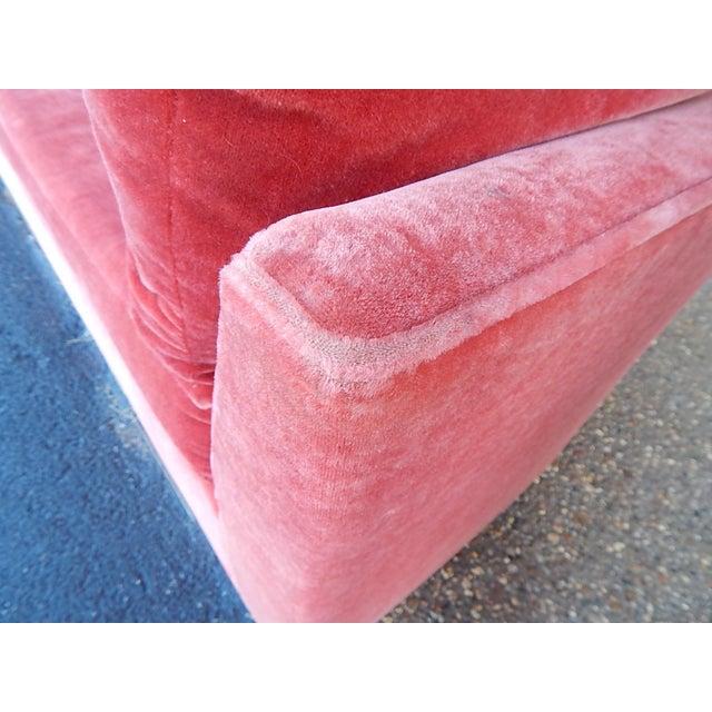 Baker Furniture Co. Red Crushed Velvet Sofa - Image 5 of 8