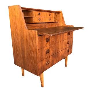 Beautiful Scandinavian Secretary Desk For Sale