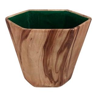 1960s Hexagonal Studio Pottery Vase by Bj Wagner For Sale