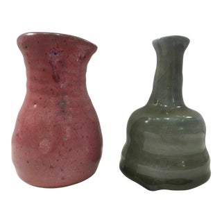 Studio Pottery Bud Vases - A Pair For Sale
