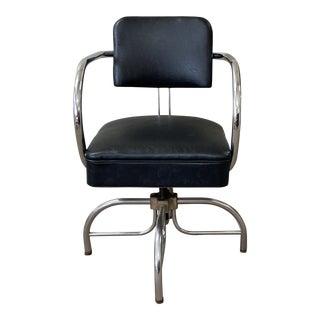 Vintage Chrome Desk Chair For Sale