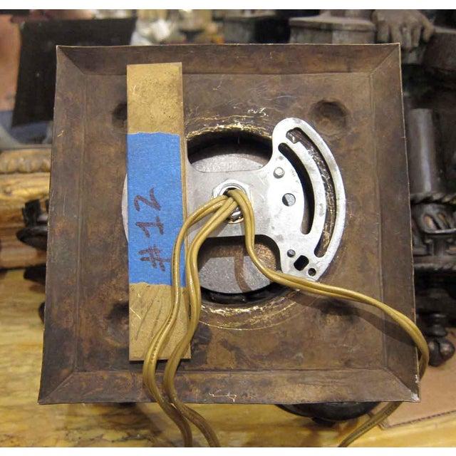 Black Arts & Crafts Hammered Bronze Sconces - a Pair For Sale - Image 8 of 9