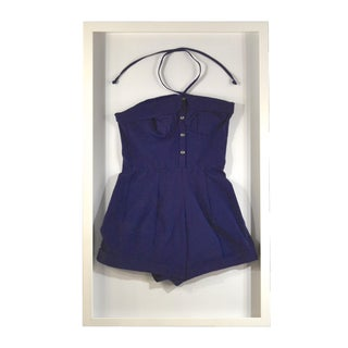 Framed Vintage Dark Blue Swim Suit