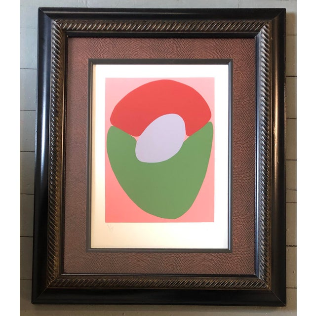 Original Robert Cooke Abstract Lithograph Mid Century 1970's Signed For Sale In Philadelphia - Image 6 of 6