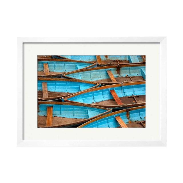 "Eugene Fang ""Blue Boats"" Framed Photo Print - Image 1 of 2"