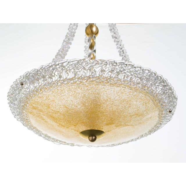 Murano Glass and Swarovski Crystal Chandelier For Sale - Image 9 of 11