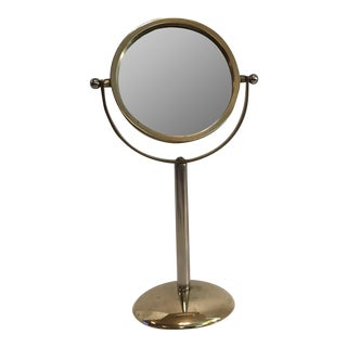 Vintage Brass Vanity Mirror