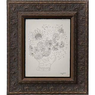 """Abstract Henri Matisse Original Signed """"Bukett De Fleurs Variees"""" Lithograph For Sale"""