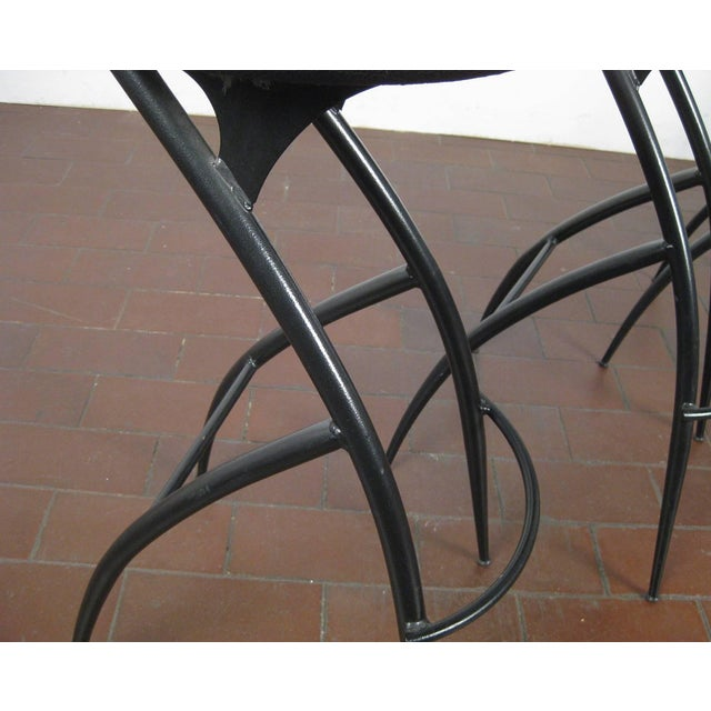 1980s Postmodern Italian Bar Stools- Set of 5 For Sale - Image 5 of 10