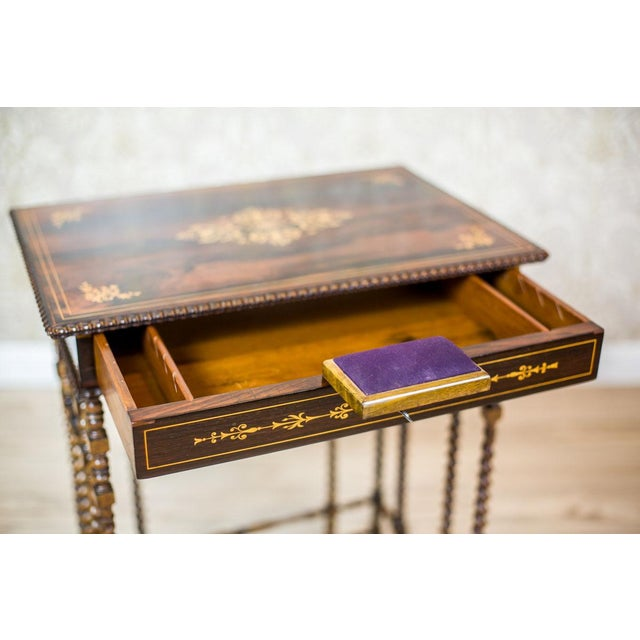 French Intarsiated Table from the 19th Century For Sale - Image 9 of 13