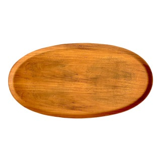 Mid-Century Teak Tray, Made in Sweden For Sale