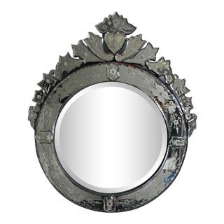 Early 20th Century Vintage Venetian Mirror 26x30 For Sale