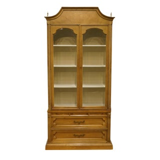 "20th Century Italian American of Martinsville Tuscan 40"" Curio Display Cabinet For Sale"