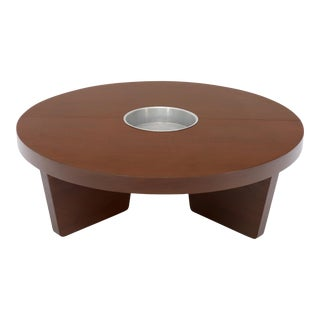 Harvey Probber Round Split Circle Nuclear Coffee Table with Planter For Sale